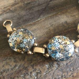 """Jewelry - Gold-Tone Confetti Stars Round Bubble Bracelet 7"""""""